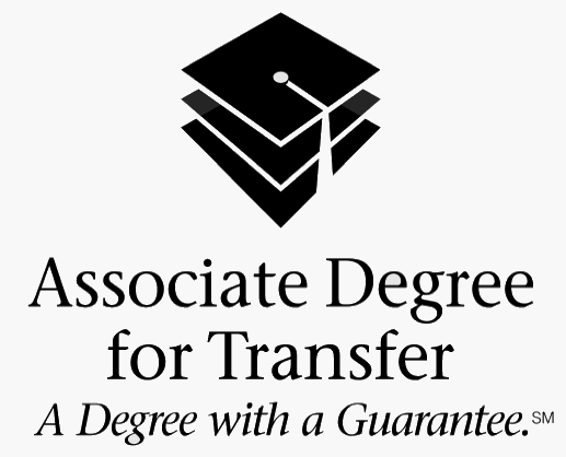 Associate Degree for Transfer - A degree with a Guarantee logo