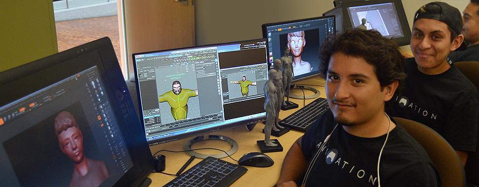 Animation lab at Rio Hondo College