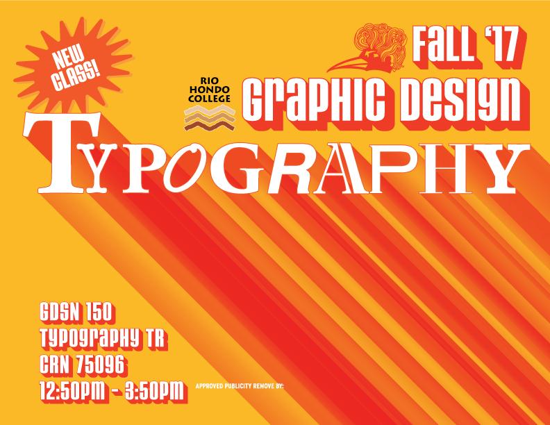 Rio Hondo College Fall Graphic Design Typography Class!