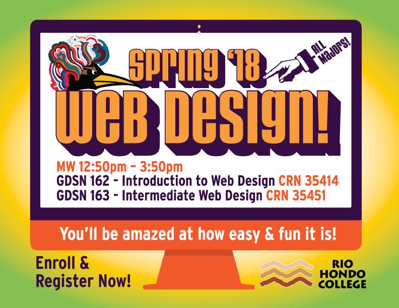 Rio Hondo College Graphic Design Classes Spring 2018