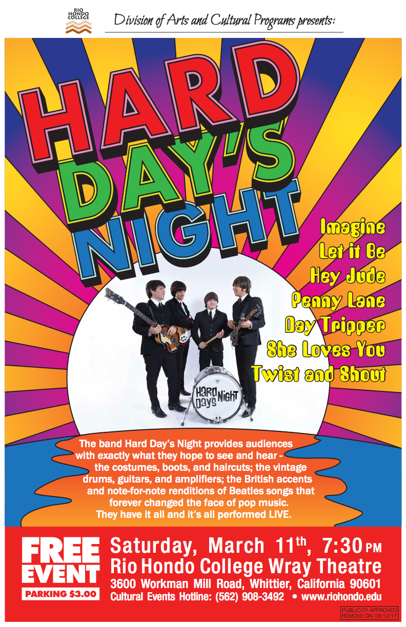 HARD DAY'S NIGHT TRIBUTE BAND | Rio Hondo College