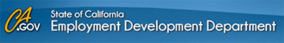 State of California Employment Development Department banner