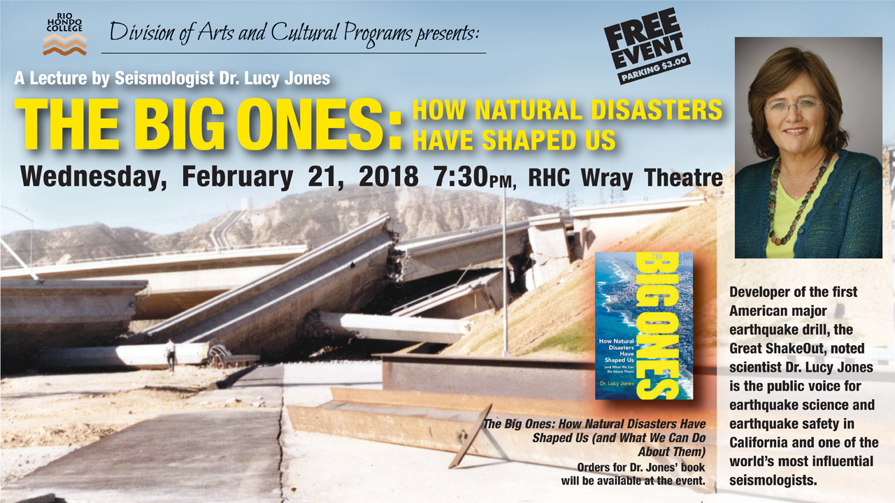 Dr. Lucy Jones Lecture @ Wray Theater | Whittier | California | United States