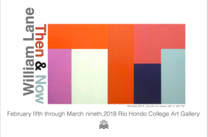 William Lane: Then and Now @ Rio Hondo Art Gallery | Whittier | California | United States