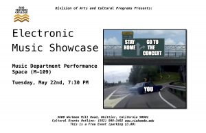 Electronic Music Showcase Concert @ Black Box Theater   Whittier   California   United States