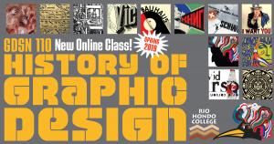 Rio Hondo Graphic Design GDSN 110 History of Graphic Design course banner