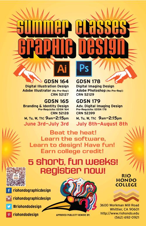 Rio Hondo Graphic Design Program Summer Schedule click for PDF