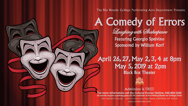 Comedy of Errors Flyer
