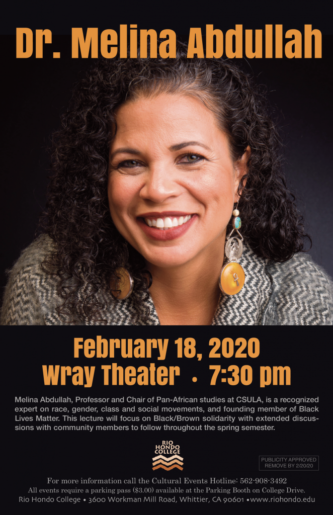 Lecture- Dr. Melina Abdullah @ Wray Theater