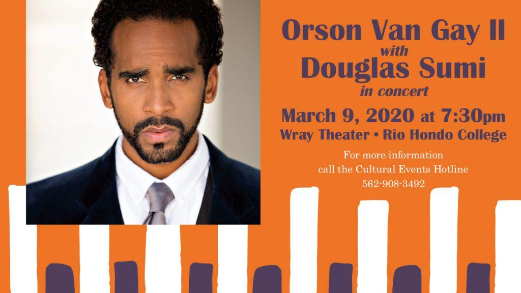 Performance- Orson Van Gay II, Tenor & Douglas Sumi, Piano @ Wray Theater