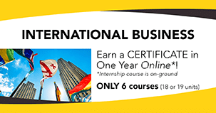 Earn a cerificate in International Business