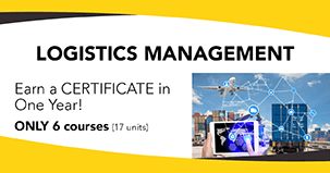 Earn a certificate in Logistics Management