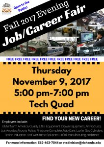 Fall 2017 Evening Job/Career Fair @ Rio Hondo College