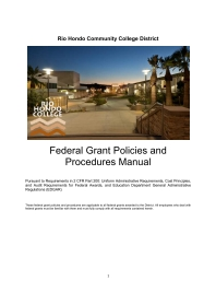Federal Grant Manual Document Cover