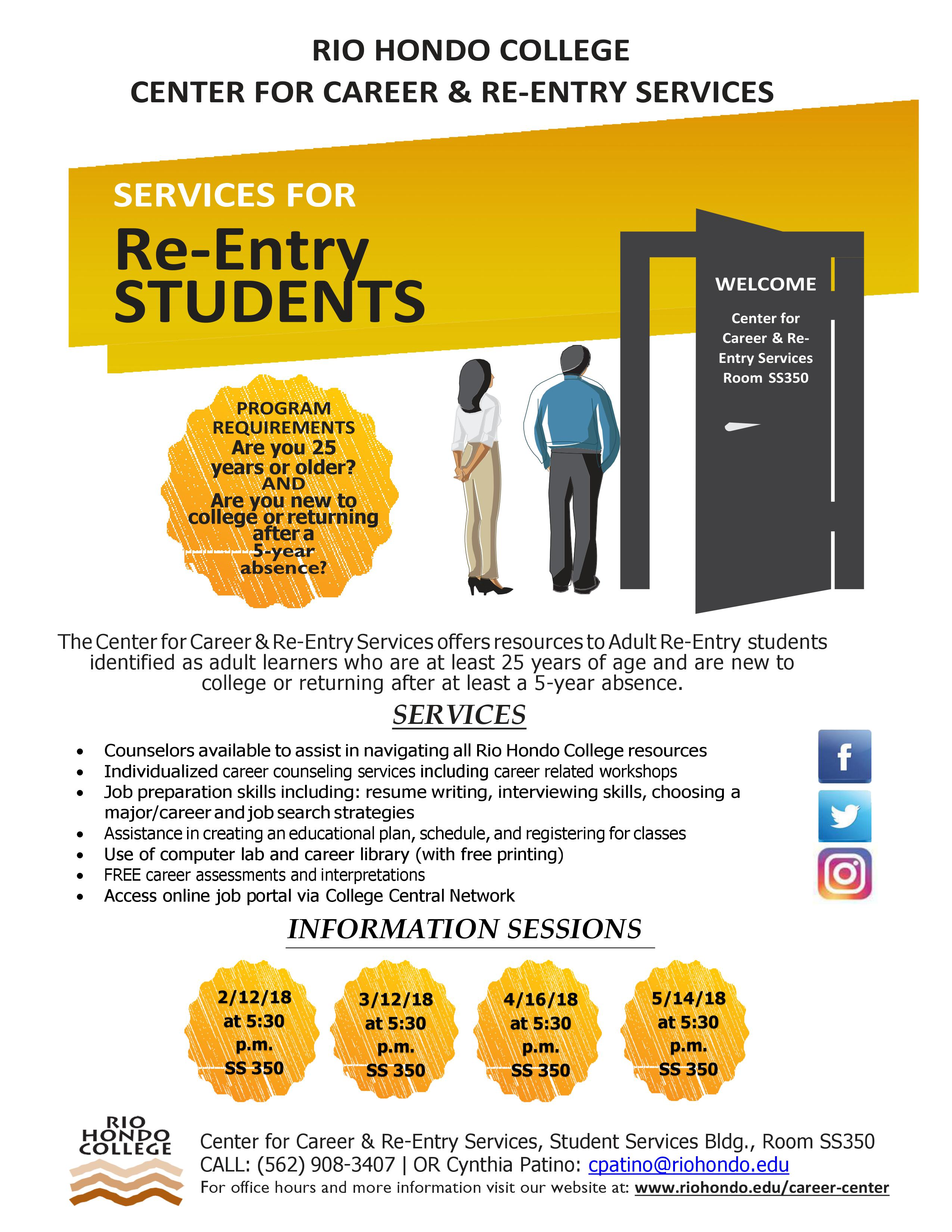 Adult Re-Entry Informational Session @ Rio Hondo College | Whittier | California | United States
