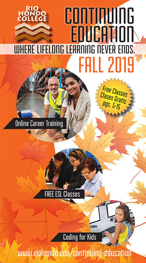 Fall 2019 Schedule - Continuing Education