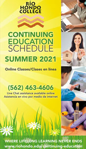 Click here to view our Summer 2021 Continuing Education Catalog