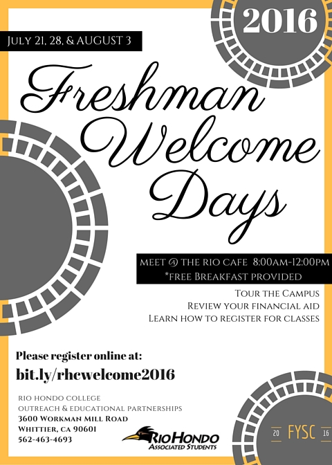 2016-1 Freshman Welcome Days