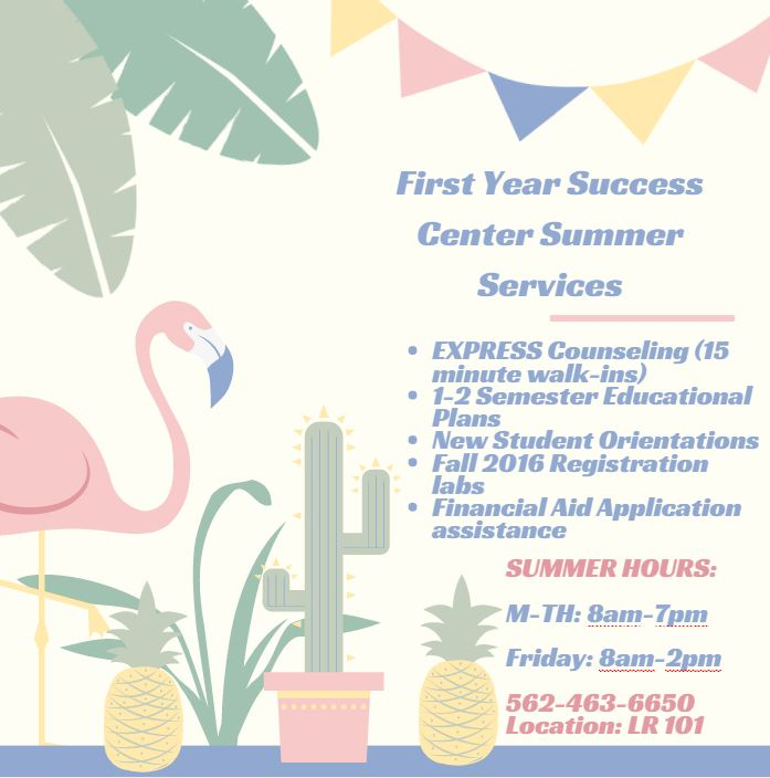 Summer 2016 Services