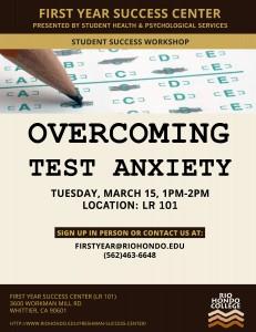 Test Anxiety FYSC