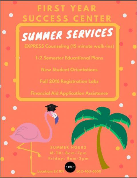 Summer Services FYsC