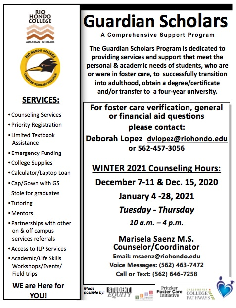 Flyer of GS Program Services, Hours and Contact Info