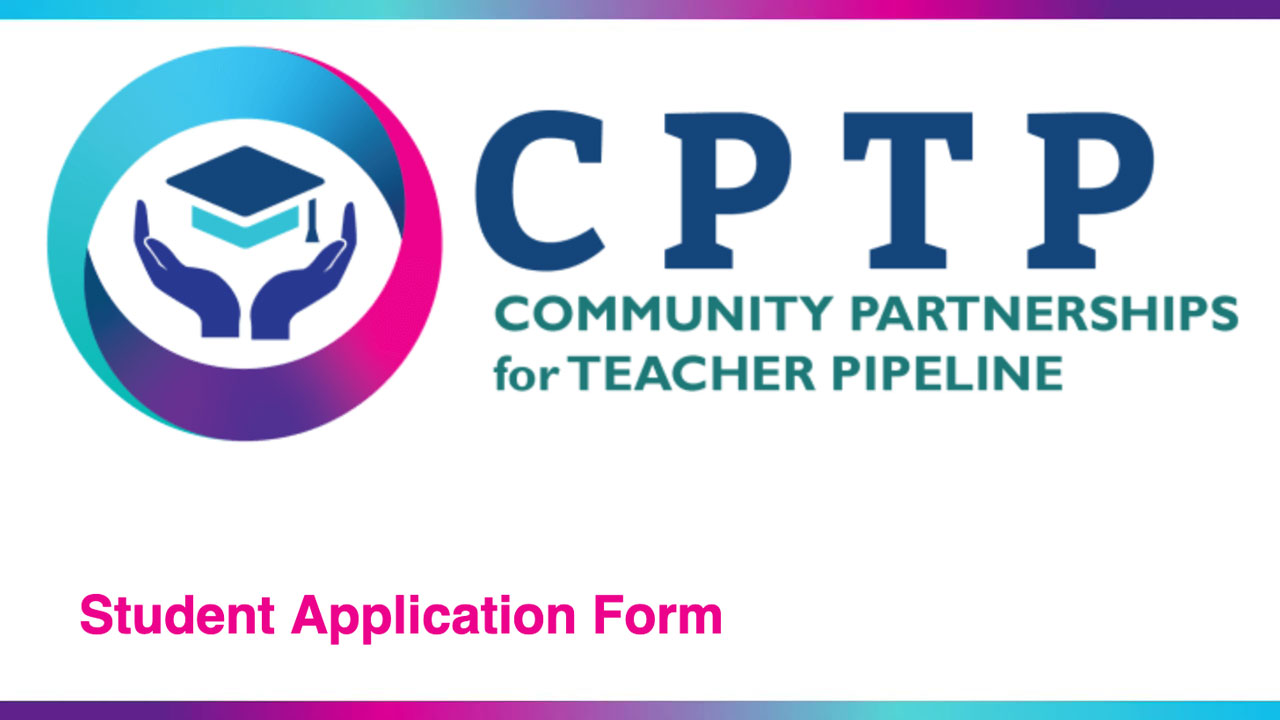 CPTP Student Application button