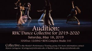 Flyer for May 18 audition in KDA complex Studio 141