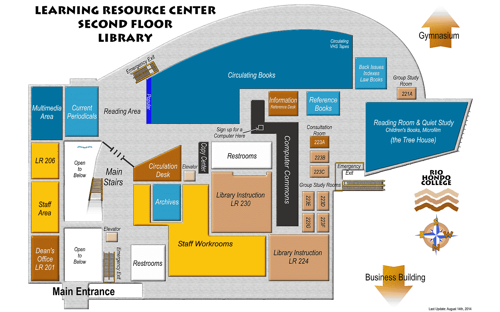 Rio Hondo Campus Map Library/LRC Maps | Library Rio Hondo Campus Map