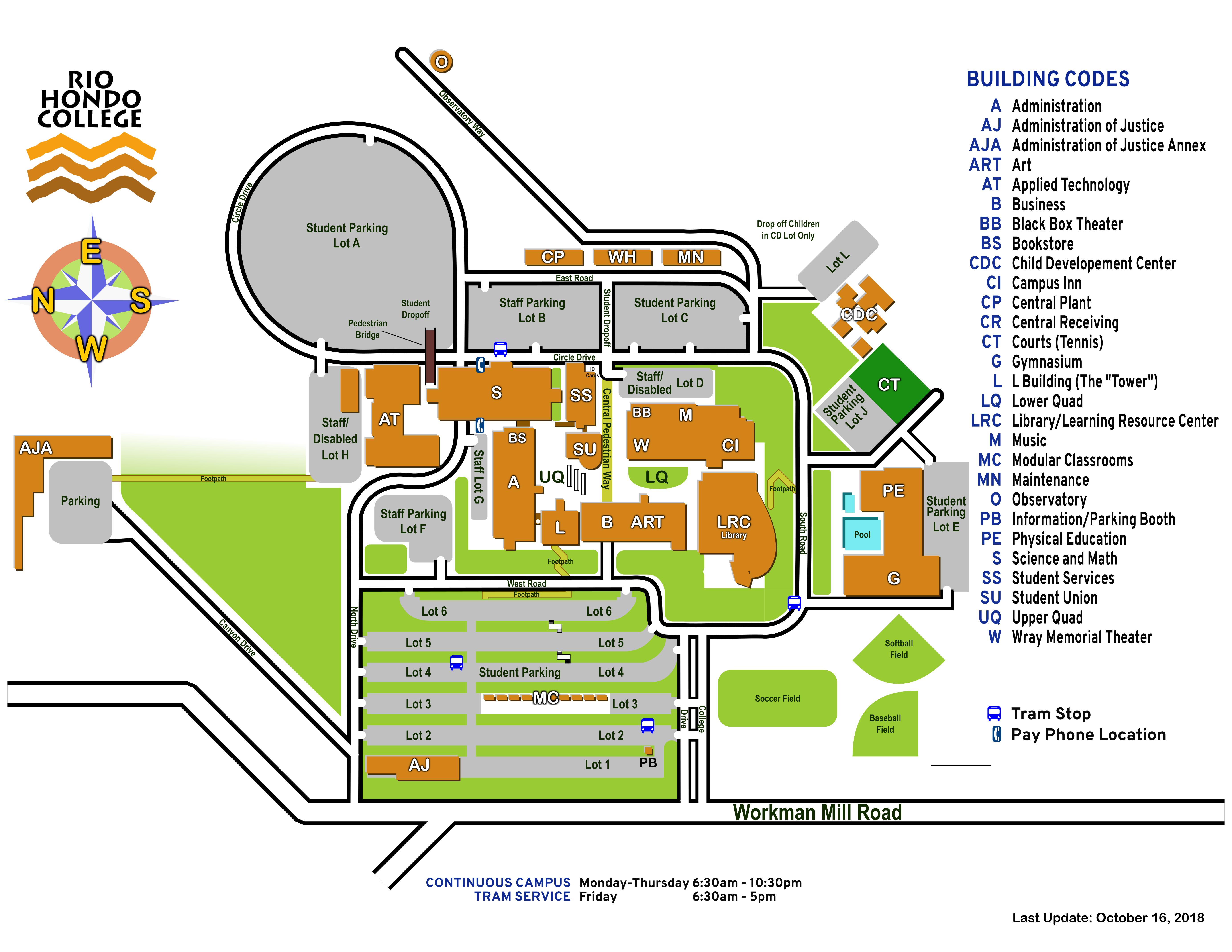 Map of Rio Hondo College
