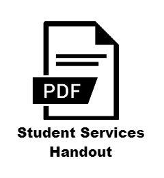 Student services handout