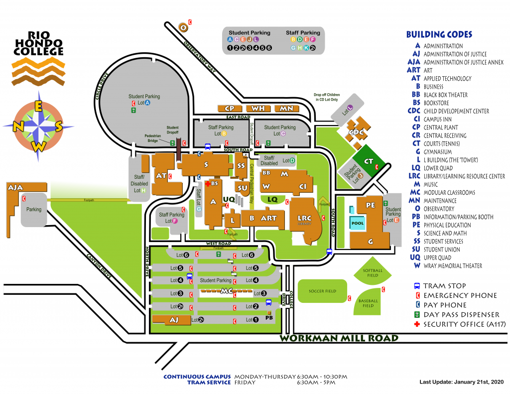 Campus Map - Last Update January 21st, 2020
