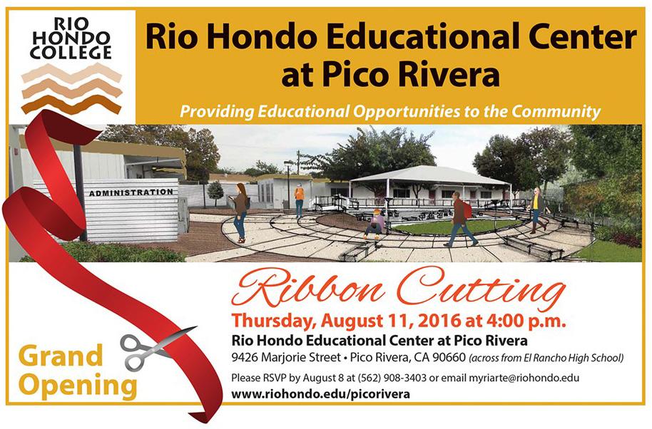 Pico Rivera Ribbon Cutting Flyer