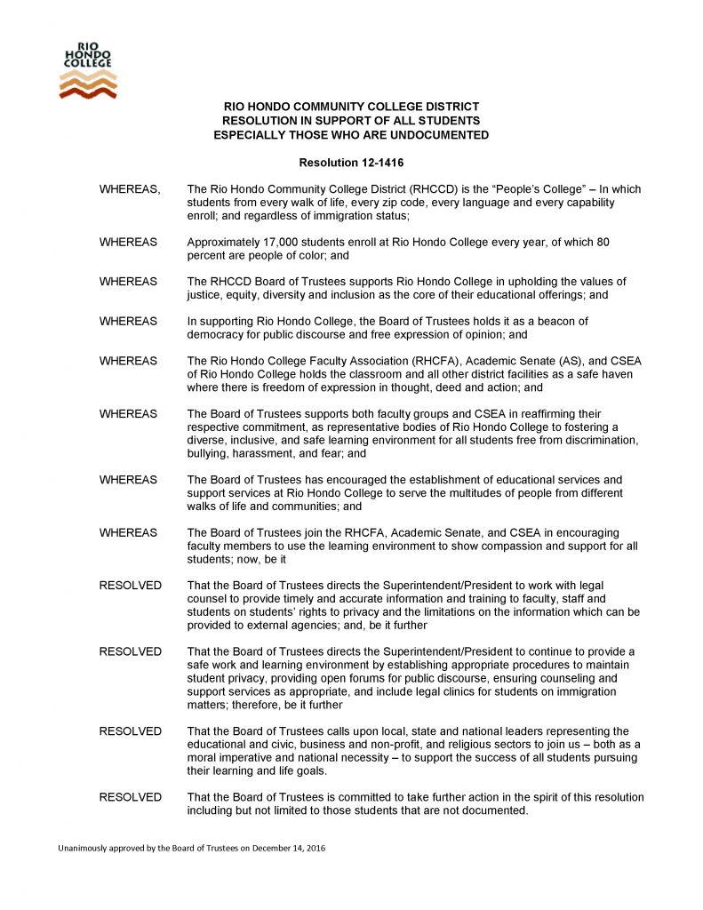 Undocumented Resolution