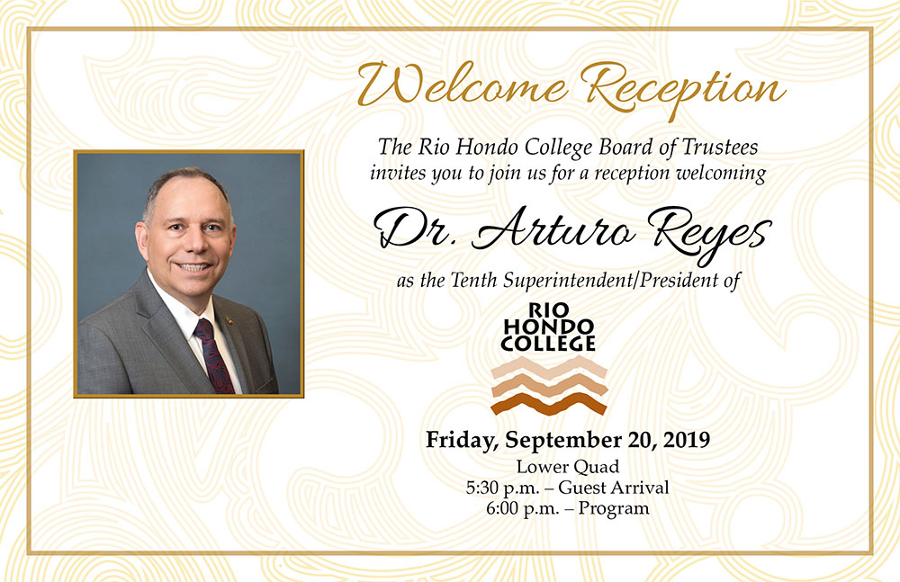 Dr Reyes Welcome Reception