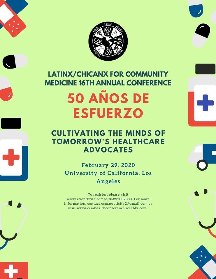 Latinx/Chicnx for community medicine 16th annual conference