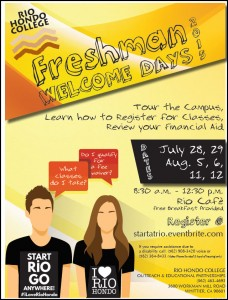 Freshman Welcome Day Flyer 7-1-2015 4-33-52 PM