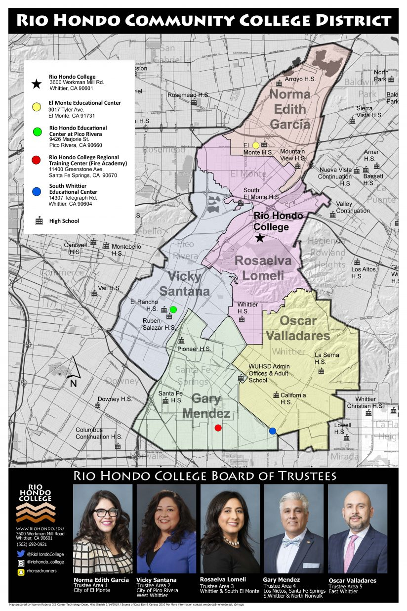 Rio Hondo Community College District Map