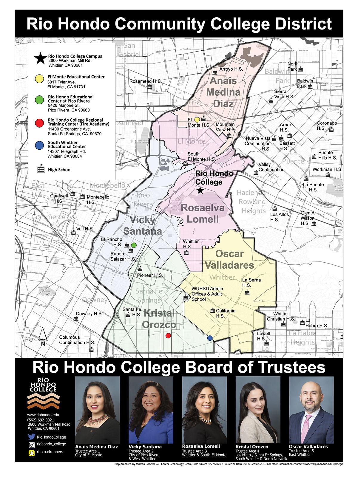 Trustees area map