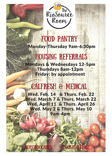 Rio Source Pantry Hours