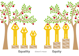 drawing illustrating equality doesn't mean equity