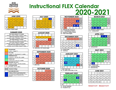 Citrus College Academic Calendar 2021 FLEX/Instructional Calendar | Staff Development and FLEX