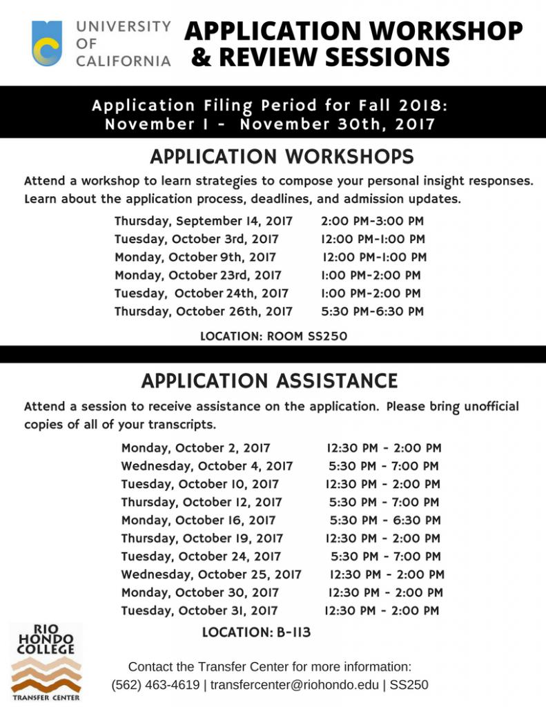 UC Application Workshop