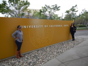 Laura (Transfer Center Student Services Assistant) and Dianne (Transfer Center Counselor/Coordinator) at UC Davis!