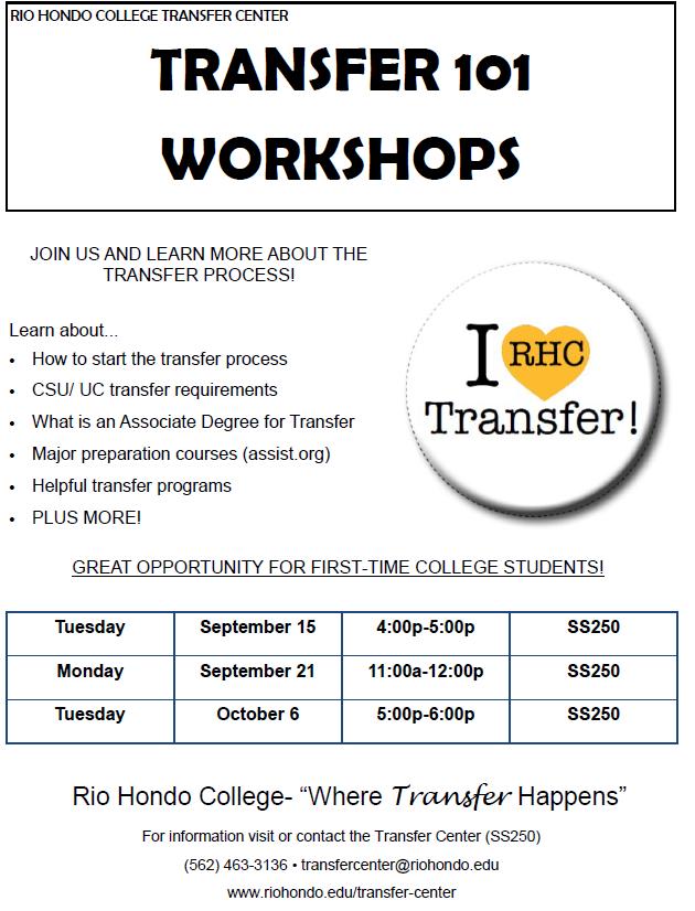 Transfer 101 Workshops