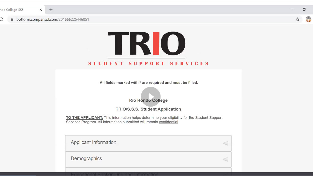 How to apply for TRIO
