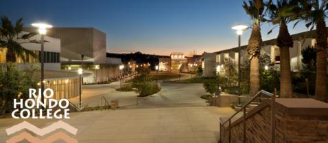 Rio Hondo College at night