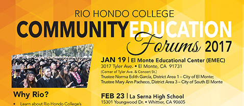Rio Hondo College Community Education Forums 2017