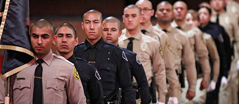 Police Academy Cadets graduating
