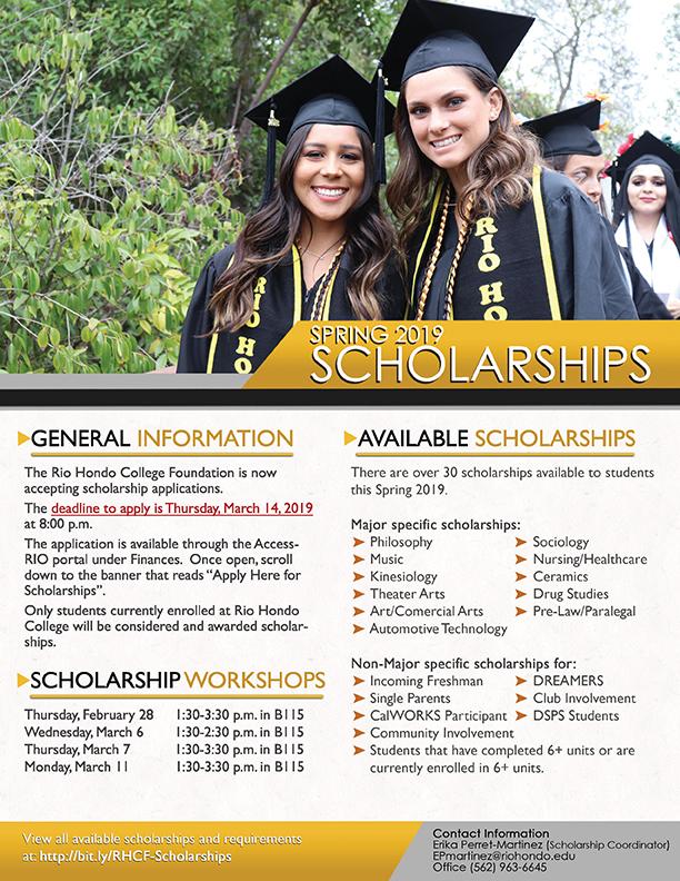 Spring 2019 Scholarships